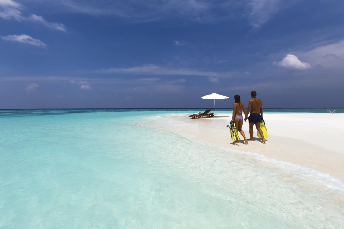 Plage de sable fin à l'ile maurice